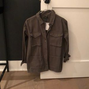 Top shop army green utility jacket/top